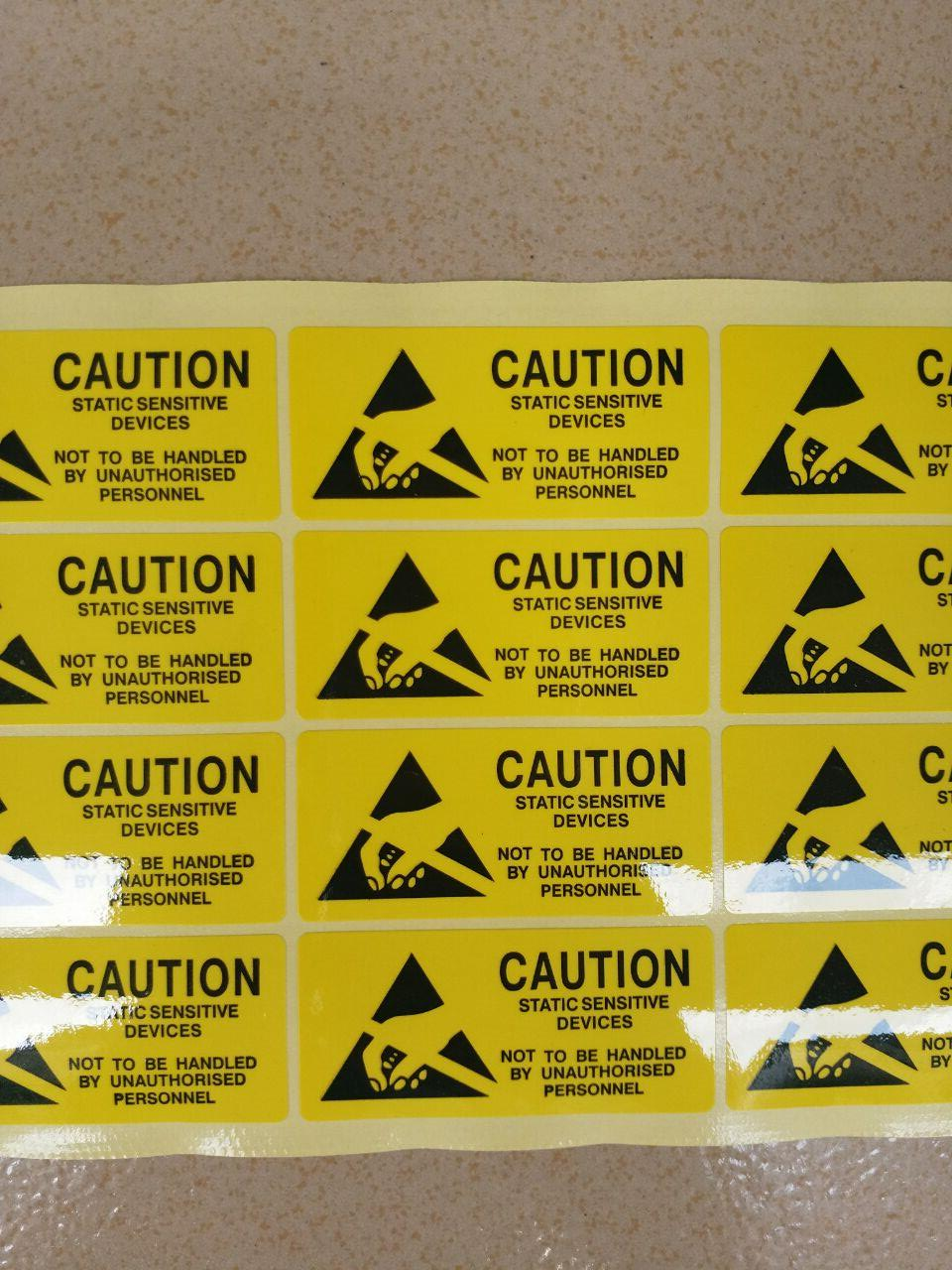 ESD warning label(Can be customized)